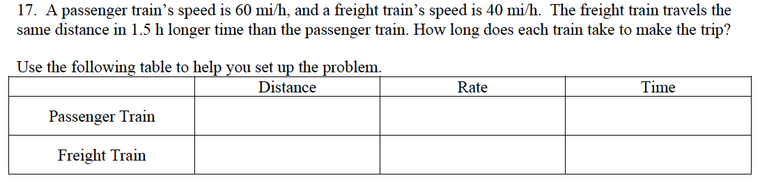distance rate time word problems worksheet Termolak – Distance Rate Time Word Problems Worksheet