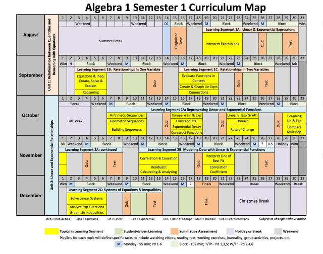 2013-2014 Algebra 1 Curriculum Plan
