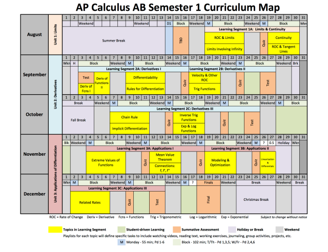 2013-2014 AP Calculus AB Curriculum Plan