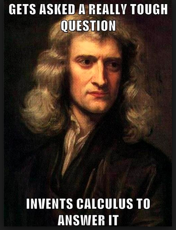 Math Meme - Invents Calculus